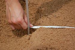 Thumb weite messen sand