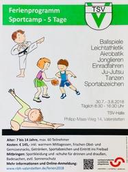 Thumb sportcamp plakat